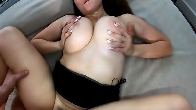 romp WITH RUSSIAN girl WITH hefty AND natural bra-stuffers