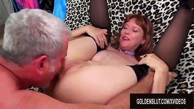 A horny bang Session with special british grandma Jamie Foster